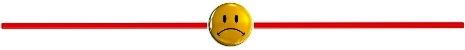 Sad Face Horizontal Rule-SAW