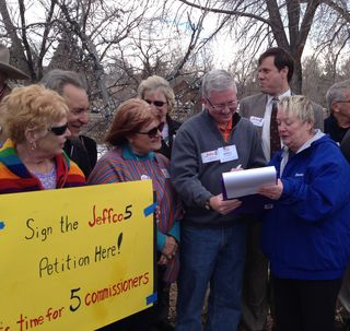 Tighe Signs Jeffco5 Petition