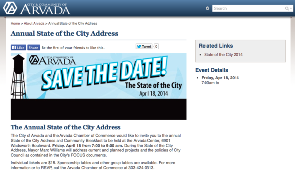 City Web Site-State of the City