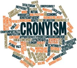 Cronyism word cloud