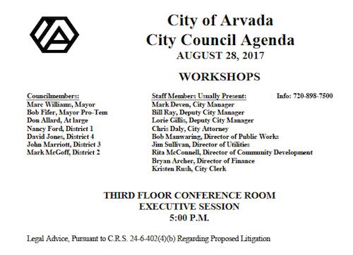 Council Secret Meeting 8-28-17