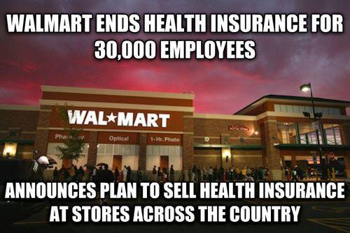 Walmart Sells Health Insurance