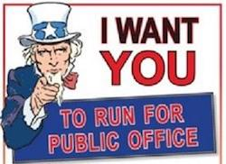 Run for public office