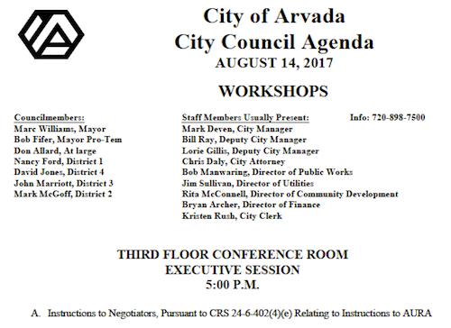 Secret Meeting 7-14-17 Agenda