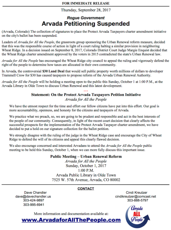 Media-PAT Suspends - Oct 1 Meeting