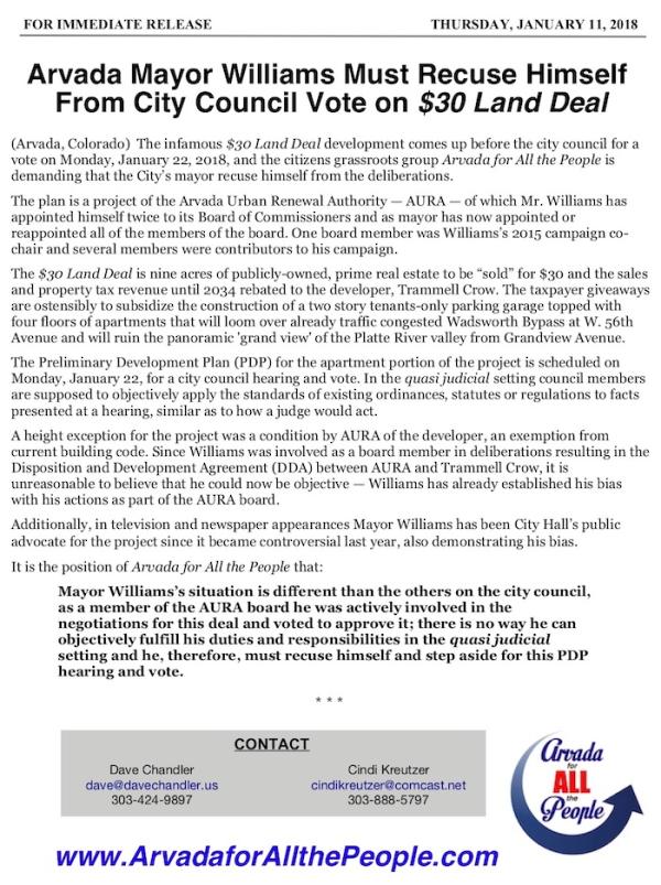 NR-AAP Williams Recusal Demand