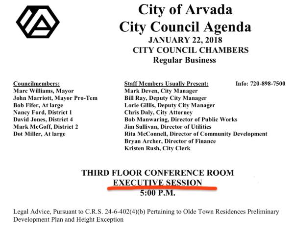 Secret Council Meeting - $30 Land Deal 1-22-18