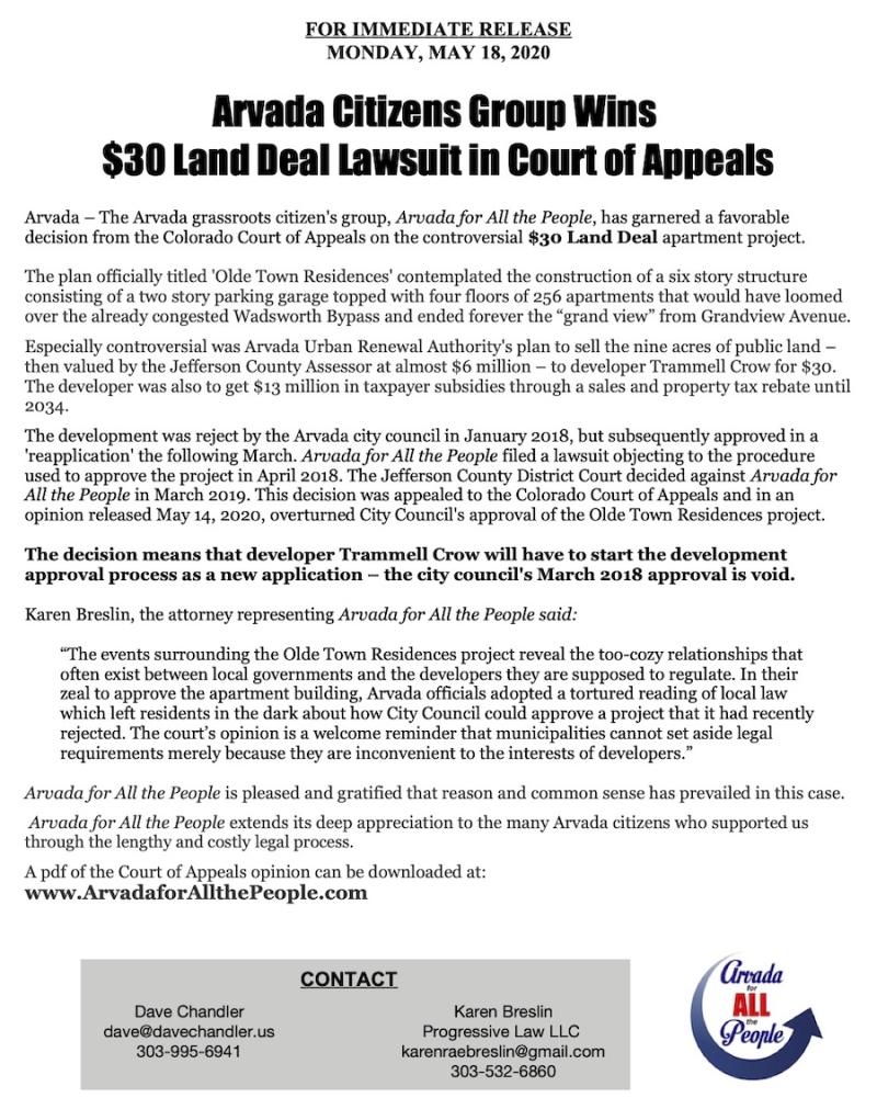 PR-$30 Land Deal Appeals Court Win 5-18-20